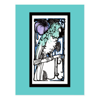 Papagei von den Zwanziger Jahren Postkarte