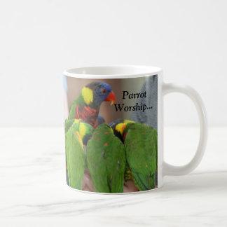 Papageien-Anbetung… Kaffeetasse