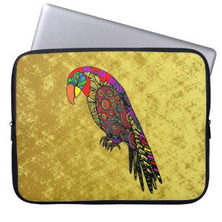 Papageien im gelben roten grün-blauen Gold Laptopschutzhülle