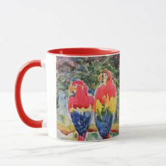 Papageien im Regen-Wald Tasse
