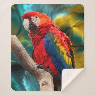 Papageien-Kunst 1 Sherpa Fleece-Decken Sherpadecke