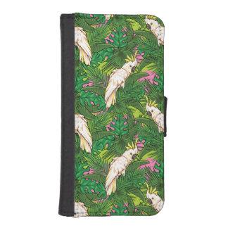Papageien-Muster mit Palmblättern Geldbeutel Hülle Für Das iPhone SE/5/5s