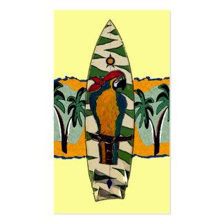 Papageien-Piraten-Brandungs-Brett-Karten Visitenkarten