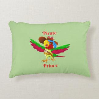 Papageien-Piraten-Prinz Brushed Polyester Pillow Dekokissen