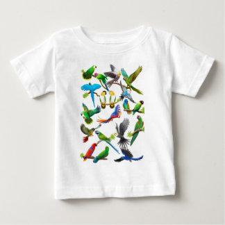 Papageien reichlich baby t-shirt