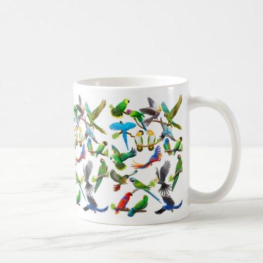 Papageien-reichlich Tasse