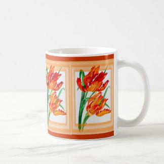 Papageien-Tulpe mit Grenze Tasse