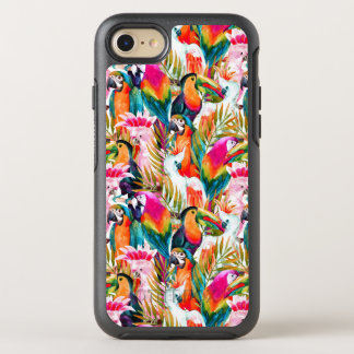 Papageien u. Palmblätter OtterBox Symmetry iPhone 8/7 Hülle