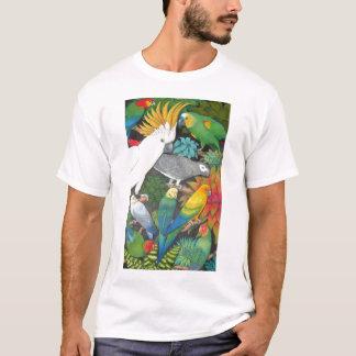 Papageien und Bromeliads T-Shirt