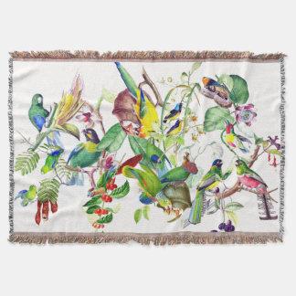 Papageien-Vogel-Collagen-Tier-TierWurfs-Decke Decke
