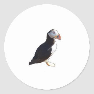 Papageientaucher Runder Aufkleber