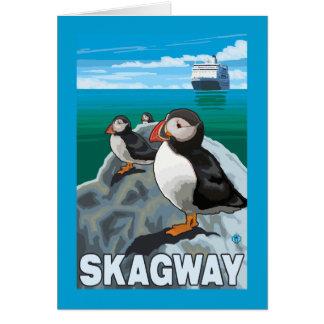Papageientaucher u. Kreuzschiff - Skagway, Alaska Karte