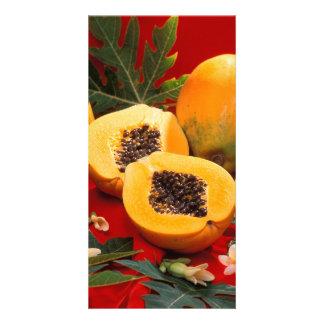 Papaya Fotokarte