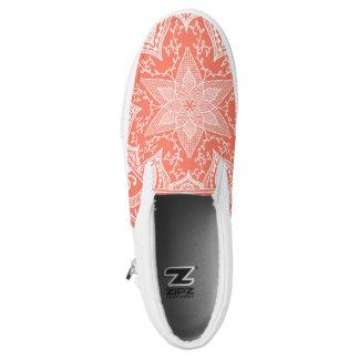 Papaya-Mandala Slip-On Sneaker