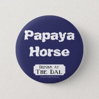 Papaya-Pferd Runder Button 5,7 Cm