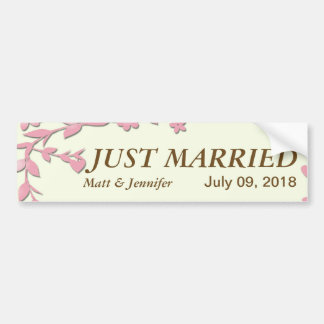Papel Picado Hochzeits-Einladung - reizende Tauben Autoaufkleber
