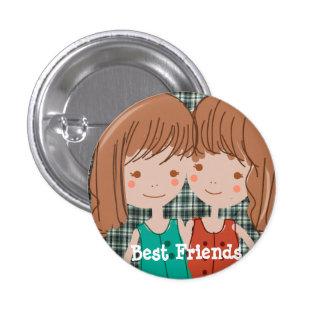PaperFruit beste Freund-Knopf Runder Button 2,5 Cm