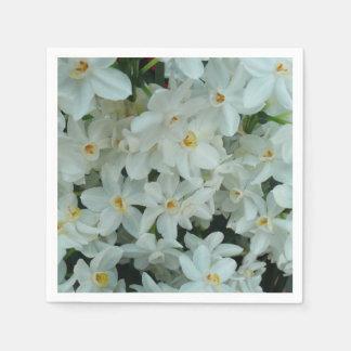 Paperwhite Narzissen-empfindliche weiße Blumen Servietten