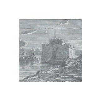 Paphos Zypern Stich mittelalterlichen Forts des Steinmagnet