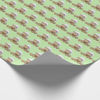 Papier des Babys grünes Schaf von crochet Töne Geschenkpapier