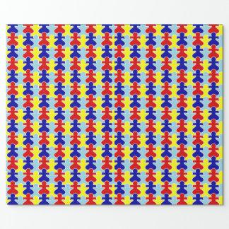Papier des Finsteren Geschenks Autismus Einpackpapier