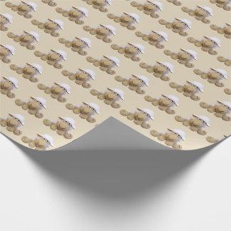 Papier für Geschenk Baby beig Kuchen mit Schafen Geschenkpapier