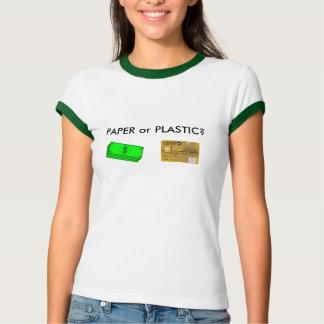 Papier oder Plastik? T-Shirt