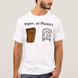 Papier oder Plastik T-Shirt