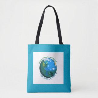 Papier, Plastik oder Planet? Markt-Tasche Tasche