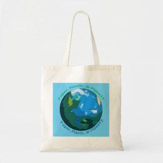 Papier, Plastik oder Planet? Markt-Tasche Tragetasche