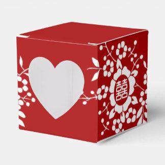 Papier-Schnitt-Blumen • Doppeltes Glück Geschenkschachtel