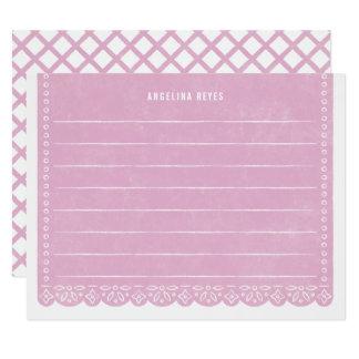 Papier-Schnitt-Fahnen-Briefpapier - Flieder Karte