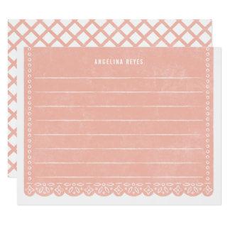 Papier-Schnitt-Fahnen-Briefpapier - Lachs Karte