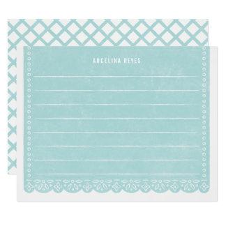 Papier-Schnitt-Fahnen-Briefpapier - Pool Karte