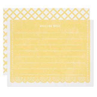 Papier-Schnitt-Fahnen-Briefpapier - Zitrone Karte