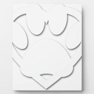 Papier-Schnitt-Hundetatzen-und -herz-Form Fotoplatte