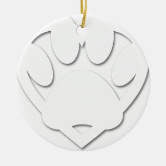 Papier-Schnitt-Hundetatzen-und -herz-Form Keramik Ornament
