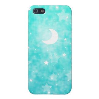 Papier-Sterne und Mond-Fantasie-himmlische Kunst Etui Fürs iPhone 5