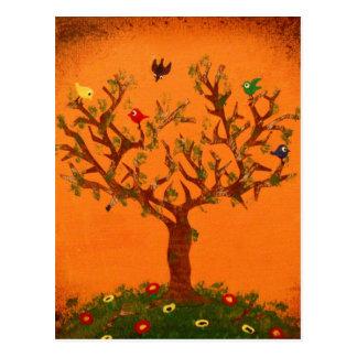 Papierbaum-Postkarte Postkarte