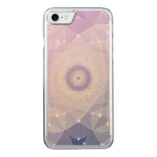 PapierBlumen-Fraktal-Kunst-Singrün-Weiß Carved iPhone 8/7 Hülle