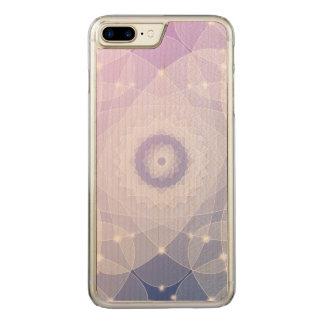 PapierBlumen-Fraktal-Kunst-Singrün-Weiß Carved iPhone 8 Plus/7 Plus Hülle