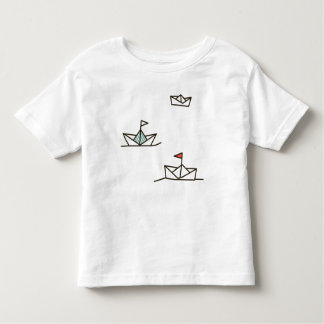 Papierbootst-shirt Kleinkind T-shirt