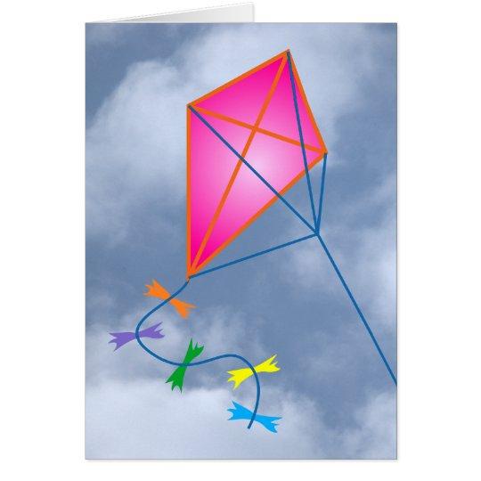 Papierdrache kite karte