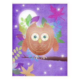 Papiereule - lila - Postkarten