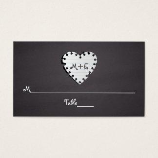 Papierherztafelmonogramm-Hochzeits-Platzkarte Visitenkarte