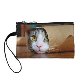Papierkatze - lustige Katzen - Katze meme - Münzbeutel