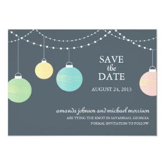 Papierlaterne, die Save the Date Wedding ist Individuelle Einladung