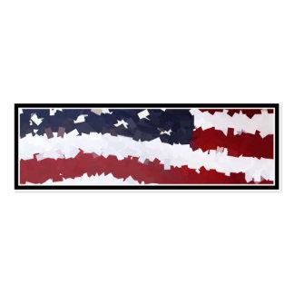 PapierMache amerikanische Flagge Visitenkarten