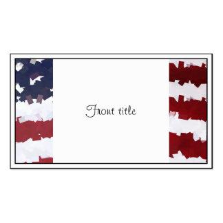 PapierMache amerikanische Flagge Visitenkartenvorlage