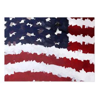PapierMache amerikanische Flagge Visitenkartenvorlagen